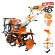 Motosapatoare RURIS 732ACC BONUS roti cauciuc, rarita, plug, adaptor,extractor cartofi, roti metalice 400 + cultivator