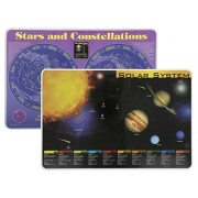 Solar System Placemat + Constellations Placemat: Wipe-off Placemats (2)