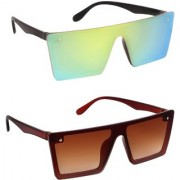 TheWhoop UV Protected Green And Blue Mercury Aviator Premium Sunglasses For Men Women Boys Girls