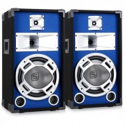 2 casse diffusori led pro dj casse party disco 800 watt