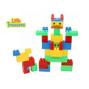 Little Treasures Building Block Big Size Play Blocks Compatible Construction Stacking Toy Set For 12+ Months Toddlers (78 pieces)