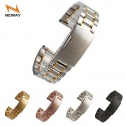 Neway Stainless Steel Watch band Silver Black Rose Gold Watch Strap Bracelet Men Women Watchband 14 16 18 20 22 24mm Relojes