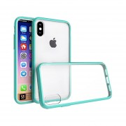 Funda Case Iphone Xs / X Acrílico Transparente TPU - Menta