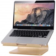 Samdi Large Wooden Desktop Holder Stand for MacBook Laptop - Birch