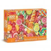 Puzzle acadele si bomboane, 200 piese