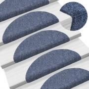 vidaXL Самозалепващи стелки за стъпала, 15 бр, 54x16x4 см, сини