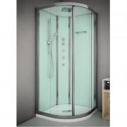 Box doccia idromassaggio angolare 80x80 cm Essential bianco