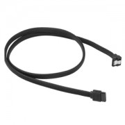Cablu Sharkoon SATA3, conector in unghi drept, 75cm, Black