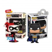 Set 2 Batman & Harley Quinn Hot Topic Funko Pop Original Batman Dc