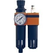 Unitate de filtrare si reglare + ungere aer comprimat 3/8