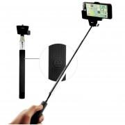 Monopod para Selfies con Bluetooth y boton en mango - Negro