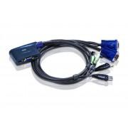 Switch KVM Aten CS62US, nr de calculatoare conectate: 2, rezolutie: 2048x1536