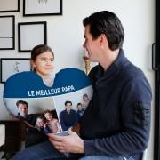 YourSurprise Coussin Fête des pères recto verso personnalisé - 60 x 60 - Velours