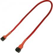 Cablu prelungitor Nanoxia 3-pini Molex, 30cm, red/black