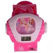 Rvold Single Projector Girl's Digital Toy Watch - Barbie (Baby Pink or Pink Color)