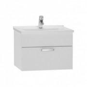 Set mobilier Vitra S50, cu 1 sertar alb lucios, sifon si lavoar 60 cm -56066