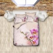 "Спално бельо с 3D мотив ""Орхидея"" Ранфорс - 100% Памук"