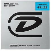 Dunlop DBSBS45125 Super Bright Bass Strings Stainless Steel Medium .045-.125 5 Strings/Set