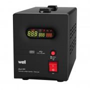 Stabilizator automat de tensiune cu releu Well, 500VA/300W