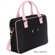 Laptop Bag - Emily Black & Light Pink