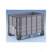 Certeo Großbehälter aus Polyethylen Inhalt 550 l, 2 Kunststoffkufen, ab 5 Stk