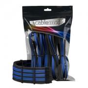 Set cabluri prelungitoare CableMod PRO ModMesh, cleme incluse, Black/Blue