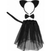 Set costum pisicuta neagra pentru fetite 4 piese negru