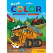 Deltas Super Color Kleurblok - Stoere Voertuigen