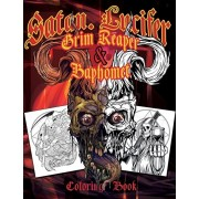 Satan Lucifer Grim Reaper & Baphomet Coloring Book: Featuring: Black Goat, Cthulhu, the grim reaper, the Krampus and More! 35 Single-sided pages. Cont, Paperback/Juan Giraldo