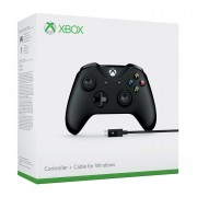 Xbox One Controller wireless (Negru) + Cablu pentru sisteme Windows