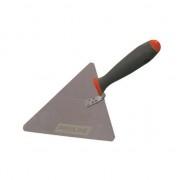 Mistrie inox triunghiulara Proline, maner gumat, 180 x 170 mm