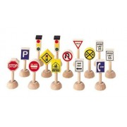 Plan Toys Set of Traffic Signs and Lights 1 (Usa)