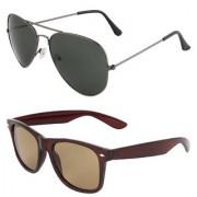 Zyaden Combo of 2 Aviator & Wayfarer Sunglasses