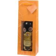 Papírová taška na 1 víno s okénkem