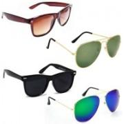 Sulit Aviator, Wayfarer Sunglasses(Brown, Green, Black, Green)