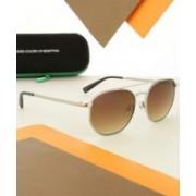 United Colors of Benetton Aviator Sunglasses(Brown)