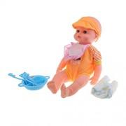 MagiDeal Handmade Lifelike Newborn Baby Doll Silicone Vinyl Realistic Doll Kids Adults Festival Xmas Gift Educational Tool Orange