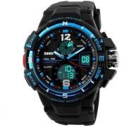 New Skmei 1148 Blue Quartz Analog With Digital Stylist Looking Sport Watch For Men Boys