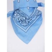 Boerenzakdoek / bandana in lichtblauw