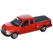 Motormax 1:24 Ford F-150 Pickup Truck Flareside Supercab Vehicle, Red