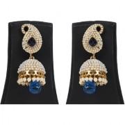 Jewels Gehna Alloy Party Wear Wedding Traditional Stone Stylish Fancy Jhumki Earring Set For Women Girls