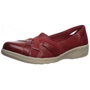 Clarks Cheyn Creek Mocasines para Mujer, Rojo (Red Leather), 10