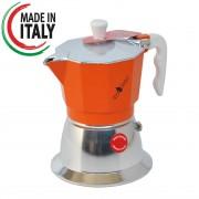 Espressor Top Moka Inductie Portocaliu 3 cesti