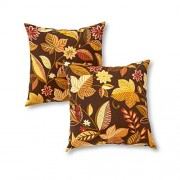 Greendale Home Fashions Indoor/Outdoor Accent Pillows, Timberland Floral, Set of 2