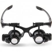 Szemüveg típusú nagyító LED világítással 4db nagyító 10X / 20X / - NO.9892G1