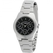 Timex E-Class Analog Black Dial Womens Watch - J104