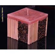 kaarsen: Koffie bamboe kaars BORDEAUX