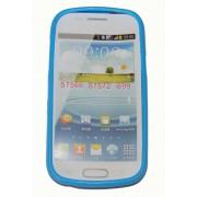 Силиконов гръб ТПУ за Samsung S7572 Galaxy Trend II Duos Син