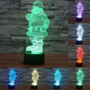 Santa Claus Estilo Creativo Visual 3d Estereo Color Decoloración Lampara Luz Led Lampara De Escritorio Touch Control De Interruptor De Luz De La Noche, Tamaño Del Producto: 26.0 X 10,0 X 8,7 Cm