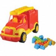 Masina pompieri 43 cm cu 38 piese constructie in cutie Ucar Toys UC85 B39016913